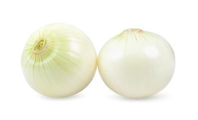 Fototapeta onion isolated on white background. depth of field obraz