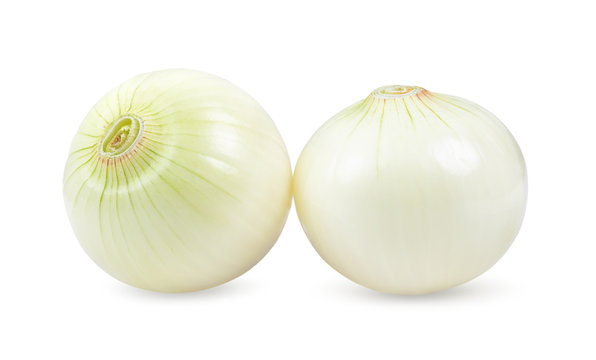 onion isolated on white background. depth of field