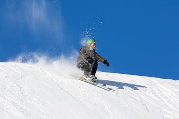 Fototapete - evoluzioni acrobatiche con gli sci