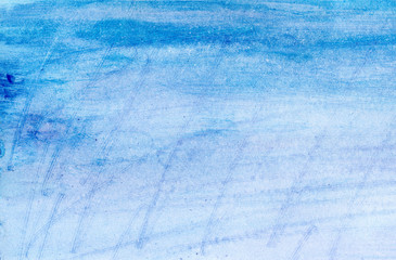 Watercolor scratched pastel texture effect background of blue purple magenta colors
