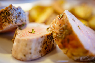 Food detail - pork tenderloin