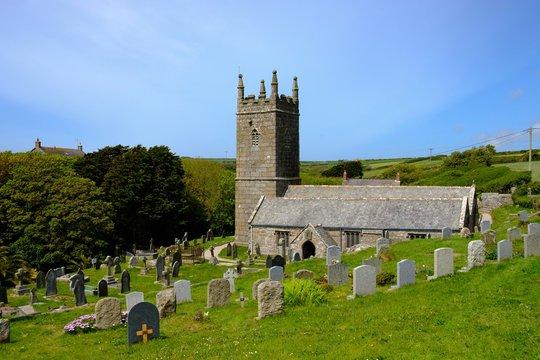 Church of St Levan, Cornwall, England, Great Britain
