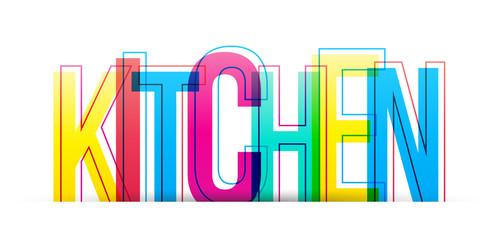 Estores personalizados para cocina con tu foto Kitchen word vector isolated on a white background