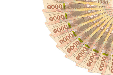 some new 1000 thai baht banknotes with copy space