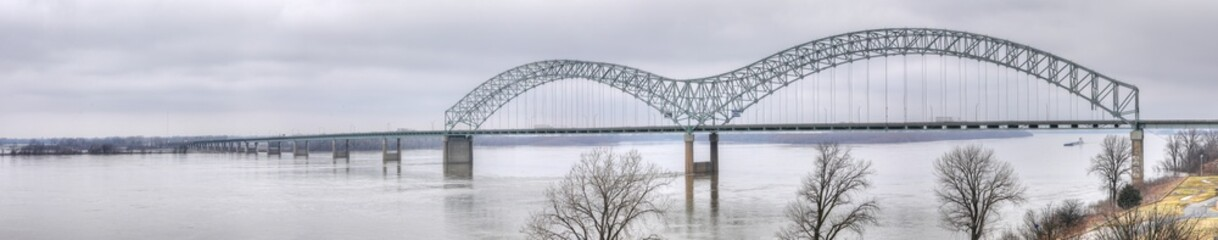 Panorama of Bridge over Mississippi River at Memphis