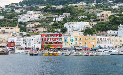 General view of Capri Island in Naples, Italy
