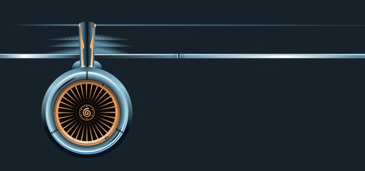 wing with turbine Wall mural