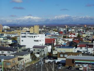 北海道千歳市の街並み