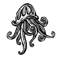 sea jellyfish tatoo