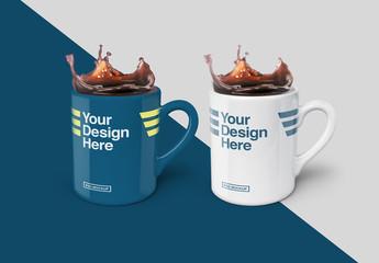 2 Mugs Mockup