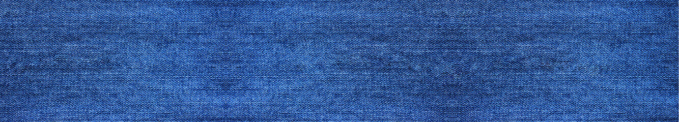 Denim Blue Jeans Texture Background of Empty Fabric, Close Up Top View Banner. Blank Jean Backdrop, Empty Simple Denim Cloth Canvas Design. Modern Fashion Template of Blue Color Jean Canvas