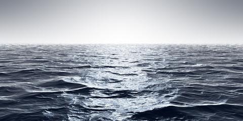 wide ocean waves horizon background