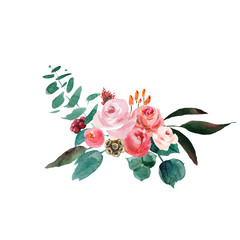 Wedding bridal rustic bouquet. red and pink and green flowers ornament