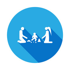 parents play with the child icon. Element of life married people illustration. Signs and symbols collection icon for websites, web design on white background