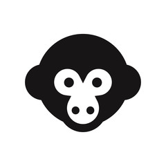 Monkey head vector icon