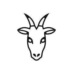 Goat head vector icon