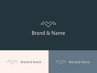 Abstract, geometric minimalist logo