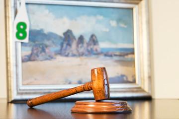 auction  bid sale judgment mallet gavel  of painting art