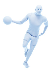 3d rendered medically accurate illustration of a basketball player