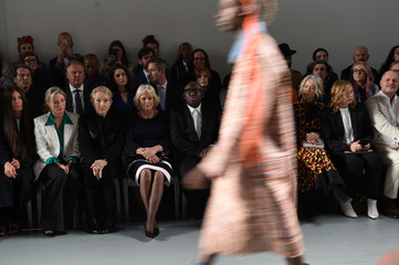 Britain's Camilla, the Duchess of Cornwall attends London Fashion Week
