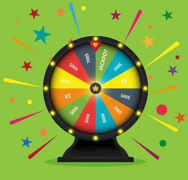 Wheel of fortune vector object
