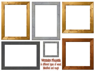 Wooden Frames  in different dimensions and wood types