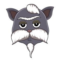 Head of cat in cartoon style. Vector illustration.