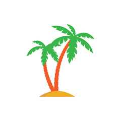 palm trees color illustration