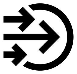 Fototapeta Bulk Transfer In Vector Icon obraz