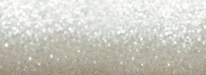 silver glitter texture abstract background. Bokeh circles for Christmas background