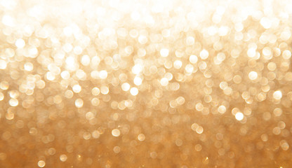 gold glitter texture abstract background. Bokeh circles for Christmas background