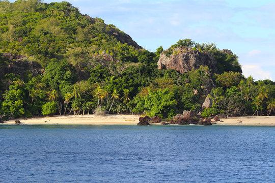 Coast and beach of the Sacred Islands, Mamanuca Islands, Fiji