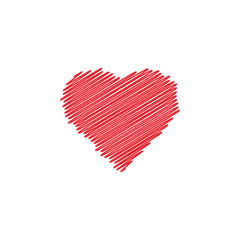 Love heart icon design template vector isolated