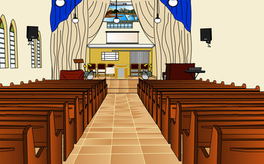 church interior -