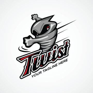 Twister Character Design logo