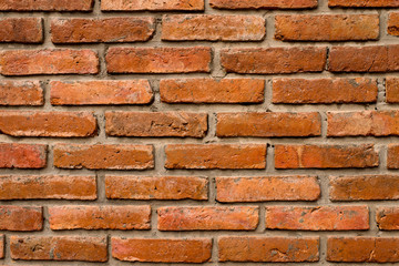 Brick wall red color,Texture background,Old brown