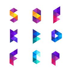 Fototapeta Abstract Duo Tones Letter Logo Collection obraz