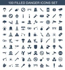 100 danger icons