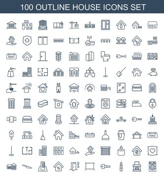 100 house icons
