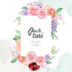 watercolor wedding floral frame multi purpose background
