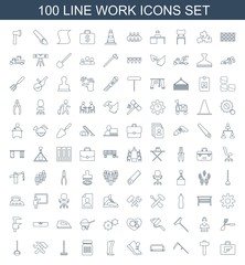 100 work icons