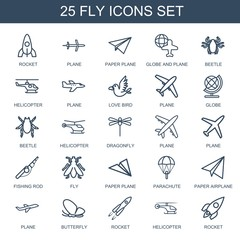 25 fly icons