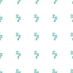 zzz icon pattern seamless white background