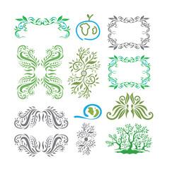 Plat Ornaments And Frames (Vector Art)