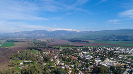 The north Israel landscape. Mount Hermon