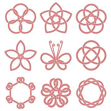 水引アイコンセット | Decorative Japanese Cord Icons