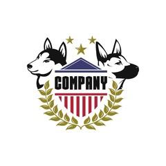 security dog logo vector