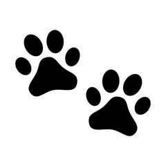 Footprints of dog, animal vector icon set.