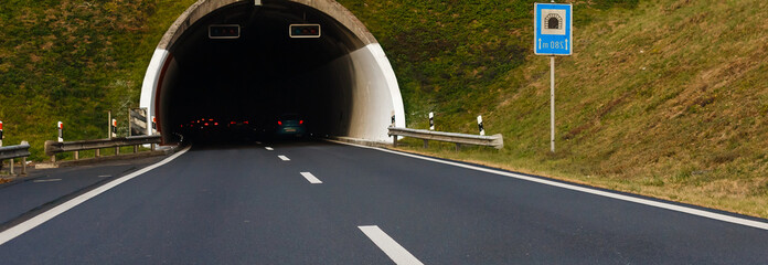 Wall Mural - tunnel on the Swiss road, Driving on swiss roads
