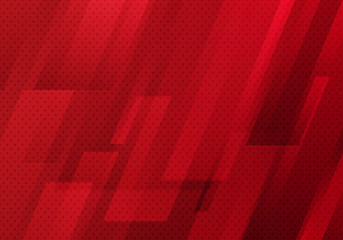 Abstract red geometric diagonal with dots pattern texture background modern digital technology style.